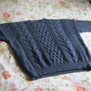 Vintage 100% Wool Fisherman Sweater